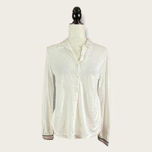 NWT Yerse Barcelona White Organic Cotton Blouse M